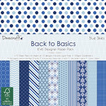 Dovecraft - 6''x6'' Paper Pack - Back to Basics - Blue Skies