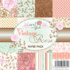 Wild Rose Studio - 6''x6'' Paper Pack - Vintage Rose