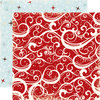 Echo Park 12'' x 12'' - Wintertime - Red Swirls