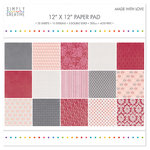 Simply Creative - 12''x12'' Paper Pad - Made With Love