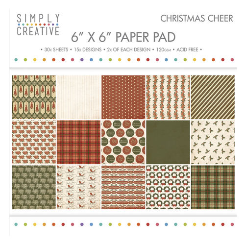 Simply Creative - 6''x6'' Paper Pad - Christmas Cheer