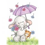Wild Rose Studio - Clear Stamp - Bella with Umbrella