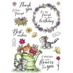 Wild Rose Studio - Clear Stamp - Cats in the garden